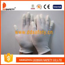 Weißer Nylon Weißer PU Handschuh Dpi101