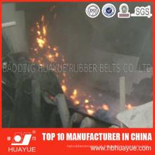 Correia transportadora de PVC / Pvg tecido sólido retardador de chamas