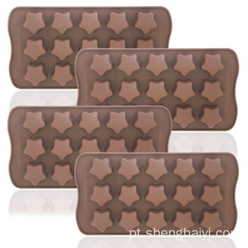 Amazon hot sales diferentes formas moldes de chocolate de silicone