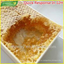 Naturaleza 100% pura caja de plástico de embalaje miel peine