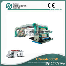 Máquina de impresión tejida de la flexografía del bolso de 4 colores PP (CH884-800W)