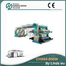 Machine d'impression Flexo à 4 couleurs en tissu PP (CH884-800W)