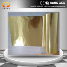 brushed gold hairline pet film for label