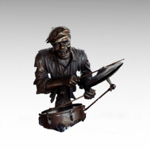 Bustos Latón Estatua Tambor Kit Decoración Bronce Escultura Tpy-484