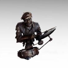 Bustos Estátua de Bronze Drum Kit Decoração Escultura de Bronze Tpy-484