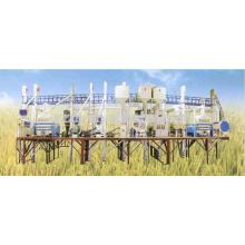 50 tonnes par jour d'agencement complet d'usine de riz complet