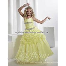 Vente chaude robe robe de bal robe de fille fleur jaune CWFaf5261
