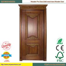 Окрашенные деревянные двери красного дерева дверь вишня древесина двери
