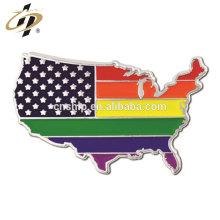 Die atingiu personalizado placa de níquel arco-íris bandeira pin emblemas