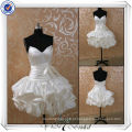JJ3502 Real Sample J3501 mais recente de amostras de seda Satiny Short Country Wedding Dresses