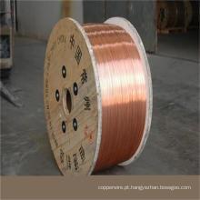 Fio mensageiro Fio de aço revestido de cobre CCS em carretel de plástico