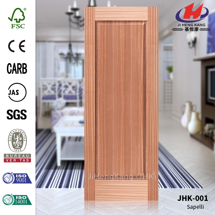 Sapeli Decorative Smooth Veneer Door Panel