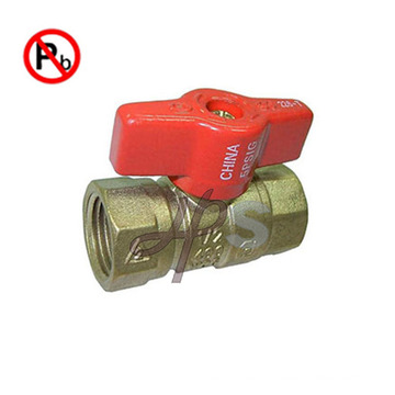 NSF low lead brass gas ball valve for USA market FXF