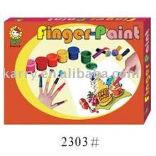 Pintura de dedo de crianças