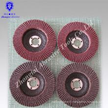 Disque à lamelles de 100 * 16mm 115 * 22mm abrasif, roue rabattable abarsive
