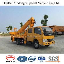 Tipo telescópico del camión de la plataforma aérea del brazo recto de 16m Dongeng