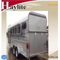 China gooseneck horse trailer horse float angle load