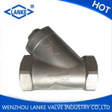 Dn15 Pn16 Filtro em Y com rosca de aço inoxidável