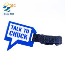 Tag personalizado da bagagem do avião do PVC do tamanho padrão