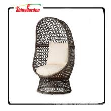 Resina de mimbre silla giratoria con cojín