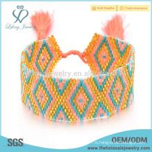 Браслет ручной работы из бисера, дизайнерские браслеты для женщин
