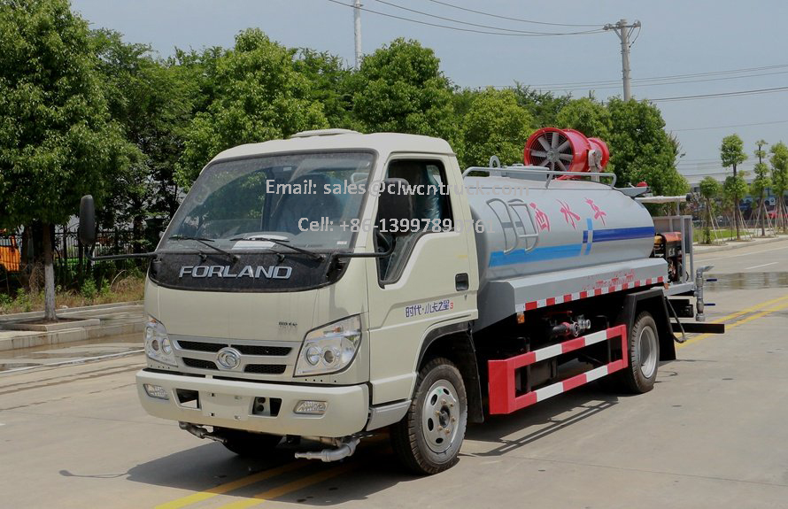 insecticide spray truck