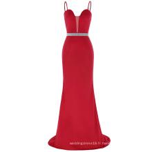 Kate Kasin bretelles spaghetti au sol longueur spandex en polyester rouge à manches courtes robe de bal KK001040-1