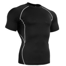 2014 Kurzarm Sport Kompression Wear Body Shaper für Männer