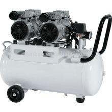 50L 1100W silencioso precio de la máquina del compresor de aire sin aceite silencioso