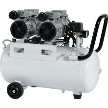 50L 1100W mute silent oil-free air compressor machine price