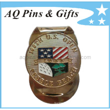 Metal Golf Soft Enamel Money Clip avec USA Flag (Golf-26)