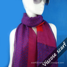 Printed Shawl in Wool Fabric