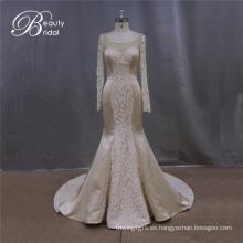 Con encanto Champagne sirena vestido novia vestido de novia