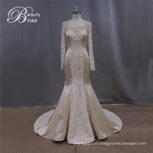 Очаровательные шампанского Русалка свадебное платье свадебное платье
