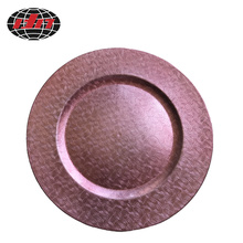 Pink Pattern Plastic Charger Plate