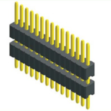 1.27mm Pin Header Single Row Double Plastic Droit