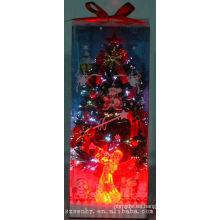 ¡CALIENTE! 2013 Iluminación de Navidad Fuente de alimentación de árboles de caja de fibra óptica