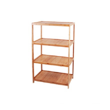 Bamboo 4-Layers Shelf Storage Rack