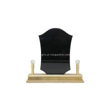 troféu de prêmio de metal de madeira escudo dubai com caixa de presente