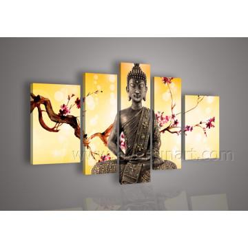 Рамочная живопись Будды на холсте Wall Art (BU-005)