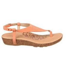 Light Orange Leather or Suede Upper Casual Sandals