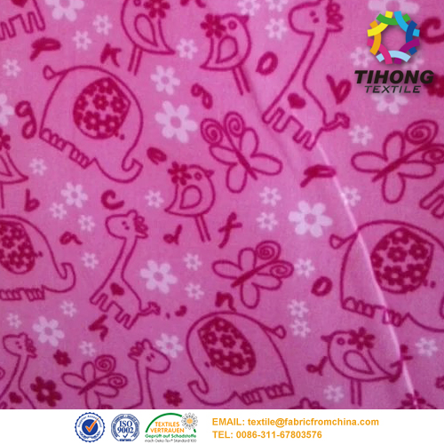 baby flannel brush fabric
