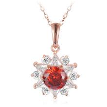 Collier pendentif plaqué or rose 18 carats (CNL0211-A)