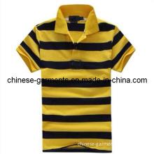 Wholesale Stripe Polo Shirt, Business T-Shirt, Men Polo Shirt (HT-AMY-T-SHIRT-019)