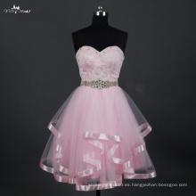 LZ168 Alibaba Sweetheart corto vestidos de novia China Pink Dress