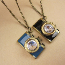 Rhinestone Camera Pendant Necklace Cheap Fashion Jewelry