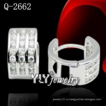 Мода ювелирные изделия 925 Серебряный круг-образный серьги / Huggies (Q-2662)