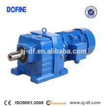 R77 helical inline gear reducer cast iron geared motor