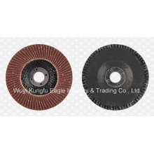 Discos abrasivos de aleta de óxido de aluminio (cubierta de fibra de vidrio 22 * 14 mm 40 #)
