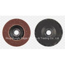 Discos abrasivos de aba de óxido de alumínio (tampa de fibra de vidro 22 * 14mm 40 #)